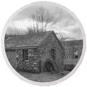 Lock House And Store - Waterloo Village Round Beach Towel