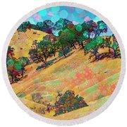 Round Beach Towel featuring the digital art Lollipop Bokeh by Mike Braun