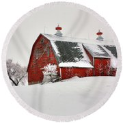 Lone Barn Round Beach Towel