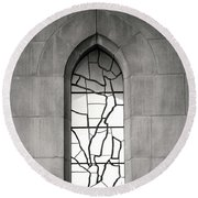 Lone Cathedral Window Round Beach Towel