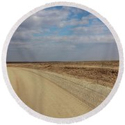 Lonesome Road Round Beach Towel