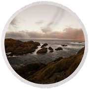 Long Exposure Arctic Round Beach Towel