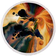 Long Journey Into Night II Round Beach Towel