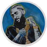 Long Live Nipsey Round Beach Towel