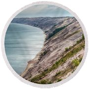 Long Slide Overlook Round Beach Towel