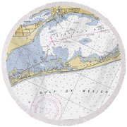 Longboat Ket Florida Noaa Nautical Chart Round Beach Towel