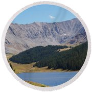 Longs Peak Colorado Round Beach Towel