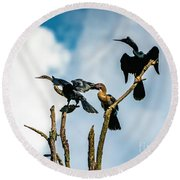 Looking Into The Wind Round Beach Towel