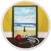 Loose Ends Round Beach Towel