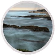 Lost In The Mist Round Beach Towel