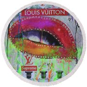 Louis Vuitton The Five Men Supreme Perfumes Round Beach Towel