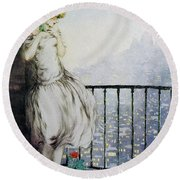 Louise - Digital Remastered Edition Round Beach Towel