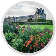 Round Beach Towel featuring the photograph Louvre by Jim Mathis