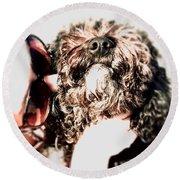Love Dog 1 Round Beach Towel