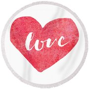 Round Beach Towel featuring the digital art Love Is In The Air by Bee-Bee Deigner