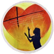 Love The Lord Round Beach Towel