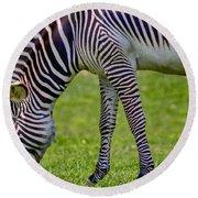 Love Zebras Round Beach Towel