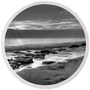 Low Tide 3 Round Beach Towel