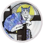 Lucy Round Beach Towel