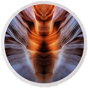 Luminous Canyon Round Beach Towel