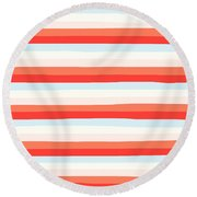 lumpy or bumpy lines abstract and colorful - QAB266 Round Beach Towel