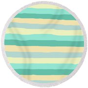 lumpy or bumpy lines abstract and summer colorful - QAB271 Round Beach Towel