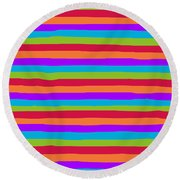 lumpy or bumpy lines abstract and summer colorful - QAB273 Round Beach Towel
