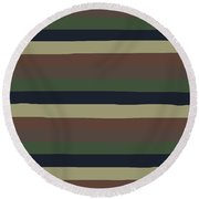 Army Color Style Lumpy Or Bumpy Lines - Qab279 Round Beach Towel