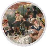 Luncheon Of The Boating Party, 1880-1881 Round Beach Towel