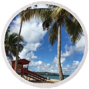 Luquillo Beach Round Beach Towel