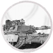 M1a1 C Company 2nd Platoon Commander Round Beach Towel