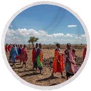 Maasi Women Round Beach Towel
