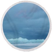 Mackinaw City Ice Formations 21618012 Round Beach Towel
