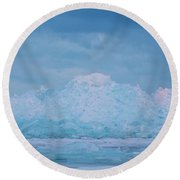 Round Beach Towel featuring the photograph Mackinaw City Ice Formations 2161802 by Rick Veldman