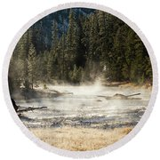 Madison River Morning Round Beach Towel