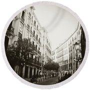 Madrid Afternoon Round Beach Towel