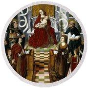 Maestro De La Virgen De Los Reyes Catolicos / 'the Virgin Of The Catholic Kings', 1491-1493. Round Beach Towel