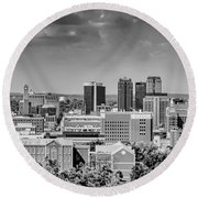 Magic City Skyline Round Beach Towel