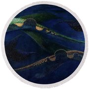 Round Beach Towel featuring the painting Magic Fish by James Lanigan Thompson MFA