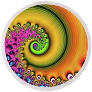 Magic Hook Orange Art Round Beach Towel