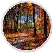Magic Of The Forest Round Beach Towel