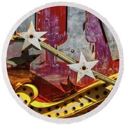 Round Beach Towel featuring the photograph Magic Wand by Skip Hunt