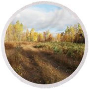 Maine Wilderness Color Round Beach Towel