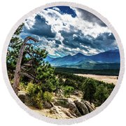 Majestic Clouds Round Beach Towel