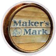 Makers Mark Barrel Round Beach Towel