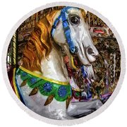 Mall Of Asia Carousel 1 Round Beach Towel