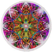 Mandala 12 11 2018 Round Beach Towel