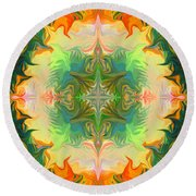 Mandala 12 8 2018 Round Beach Towel