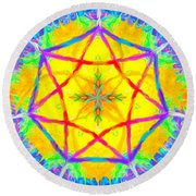 Mandala 12 9 2018 Round Beach Towel
