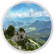 Mannlsteig, Berchtesgadener Land Round Beach Towel